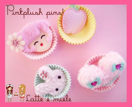 Pinkplush pins by lattemiele