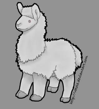 Plush Albino Llama by vetole