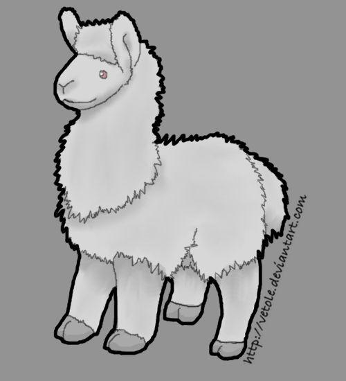 Plush Albino Llama