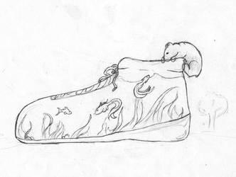 Shoe Bear by ishrahsan