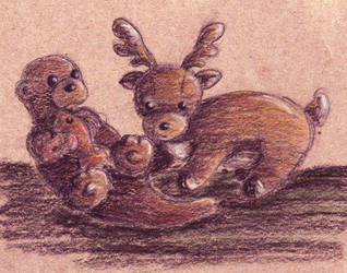 Otter and Stag by ishrahsan