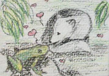Sketch Card Commission by ishrahsan