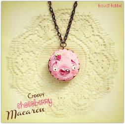 Creepy Chocoberry Macaron by Kawaii-Kakkoi