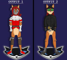 Sally Acorn Outfit Designs for A Sly Encounter