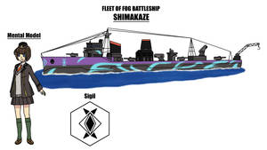 Fleet of Fog Battleship: Shimakaze - Ref Sheet