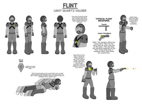 Flints: Light Quartz Soldiers - FC Reference Sheet