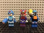 Lego Minifigs of Megaman X, Zero, and Vile