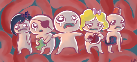 The Binding of Isaac Lineup by Novacevia