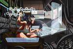 Sci Fi Computer Girl