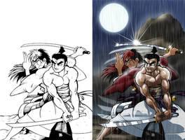 Jack versus Kenshin by KanonFodder