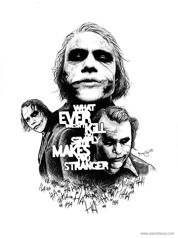 Joker by face art