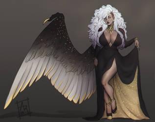 Broken hearted fallen angel by Akira-Raikou