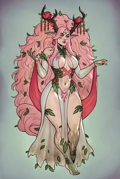 Spring nature goddess design