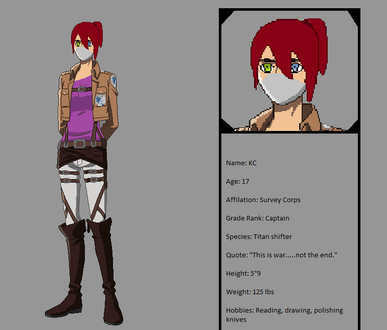 My Attack On Titan OC!! By ThitherPanther On DeviantArt