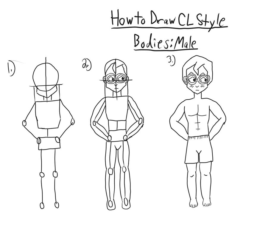 How to draw cl style male body by purplerose128