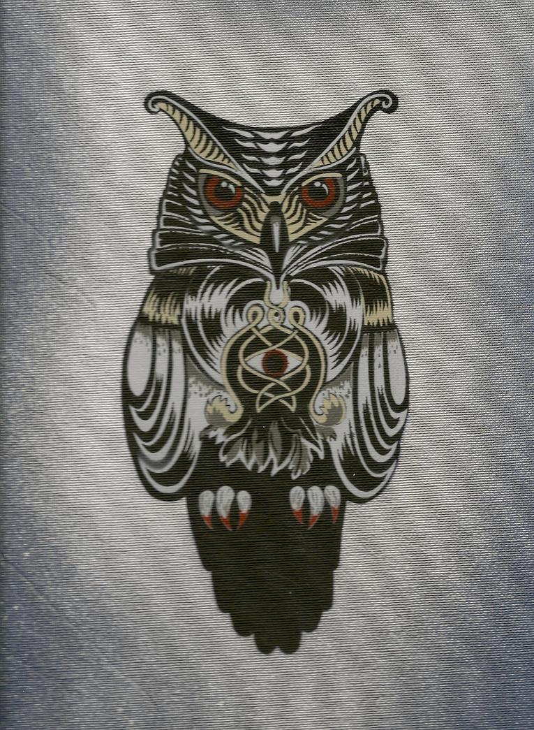 Flying owl stencil - photo#15