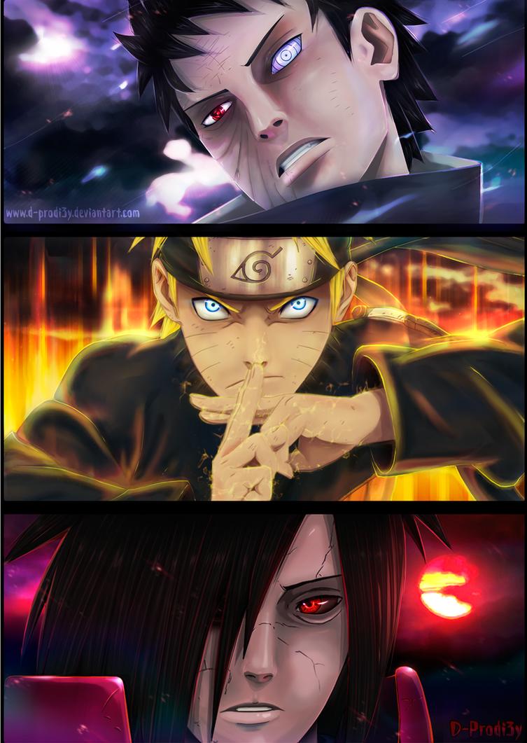 Obito, Naruto and Madara... by D-Prodi3y