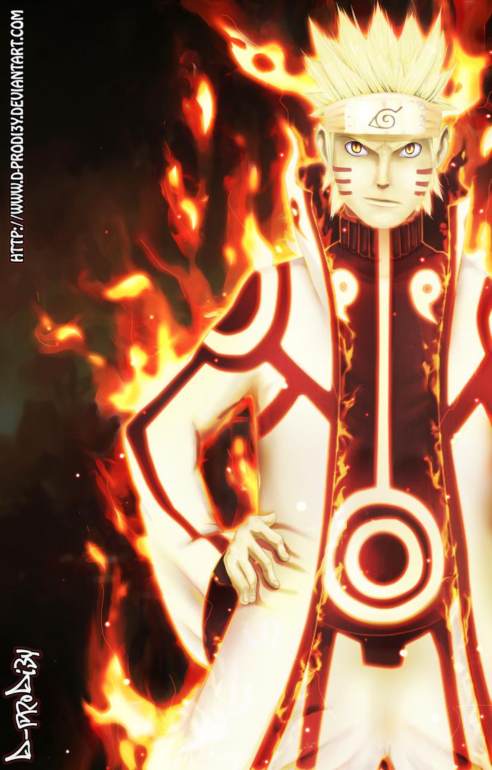 Naruto Bijuu Mode by D-Prodi3y