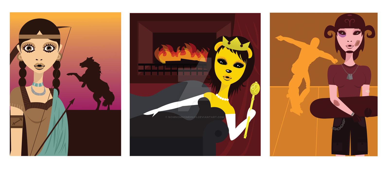 Zodiac: Fire Series by NomNomNomDinos on DeviantArt