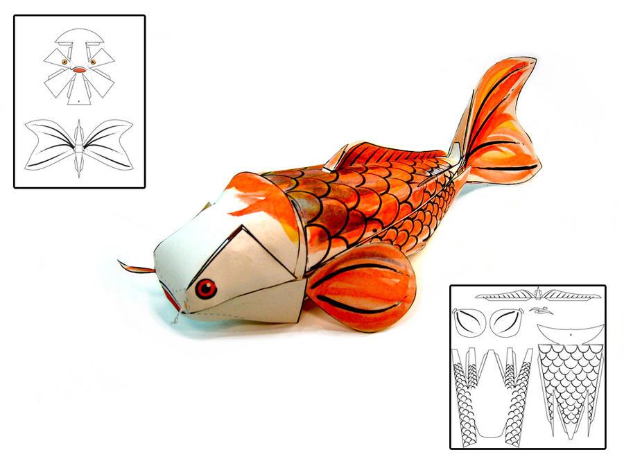 Koi Fish Papercraft by RisingKirin on DeviantArt npuD3gI8