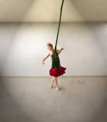 Puppet theatre dancer