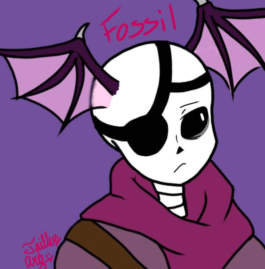 Fossil the half bat-like Skeleton by TGartz