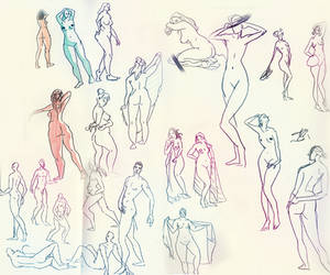 Lifedrawing session by Galaskiie