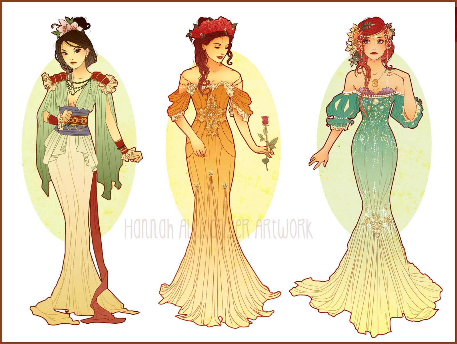 Art Nouveau Costume Designs I By Hannah Alexander On Deviantart
