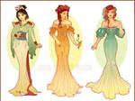 Art Nouveau Costume Designs I