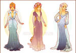 Art Nouveau Costume Designs II