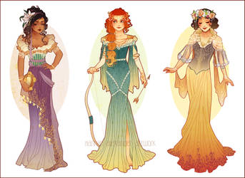 Art Nouveau Costume Designs III