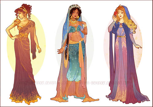 Art Nouveau Costume Designs V