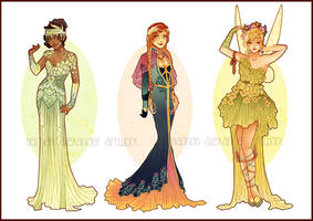 Art Nouveau Costume Designs VII