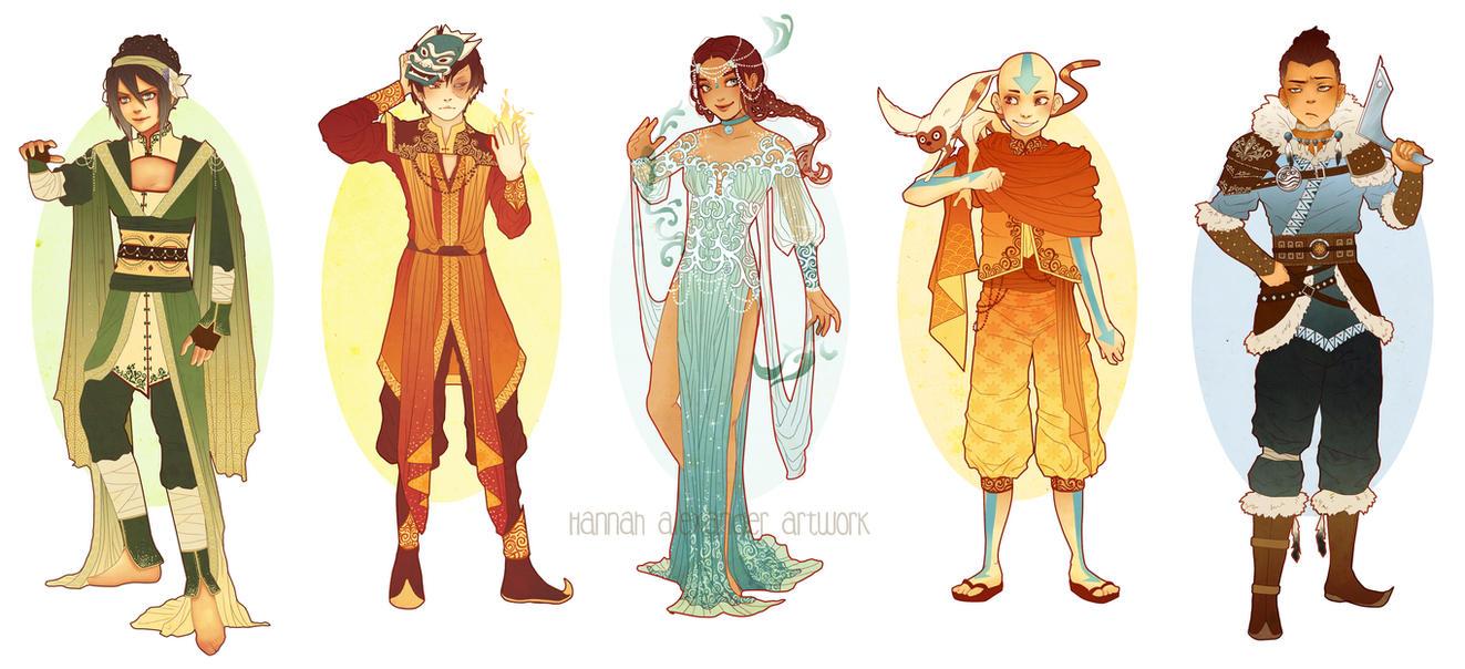 updated avatar art nouveau costume designs by hannah alexander on