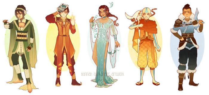 Updated: Avatar Art Nouveau Costume Designs