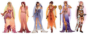 Art Nouveau Redesigns: Final Fantasy Girls