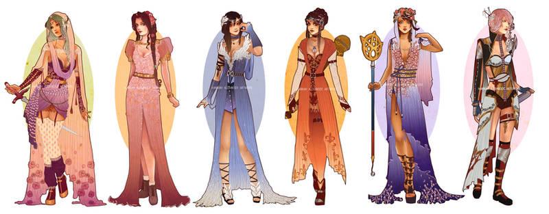 Art Nouveau Redesigns: Final Fantasy Girls