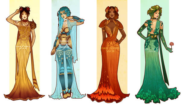 Pokemon Costume Designs: Starters