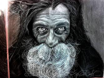 Homeless Man Fantastic Portrait