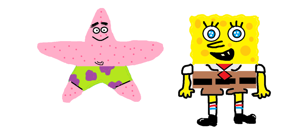 Spongebob and Patrick by happyblock4000