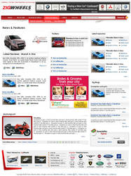 Auto Website -  inside page.