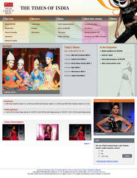 Fashion Website layout by vinkrins
