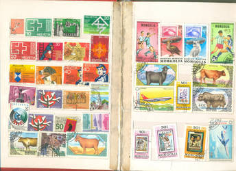 Postage Stamp collection 1 by vinkrins