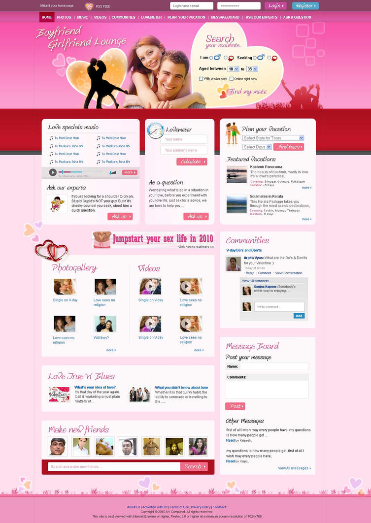 Dating Website by vinkrins