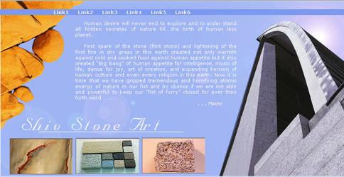 web interface, shiv-stone by vinkrins