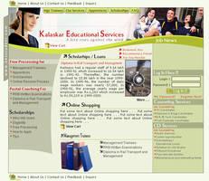 web interface, kalaskar edu by vinkrins