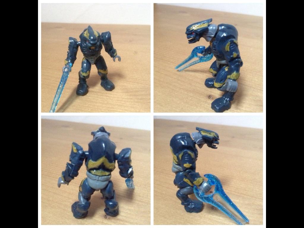 Halo mega bloks custom gold elite figure by specter123456789