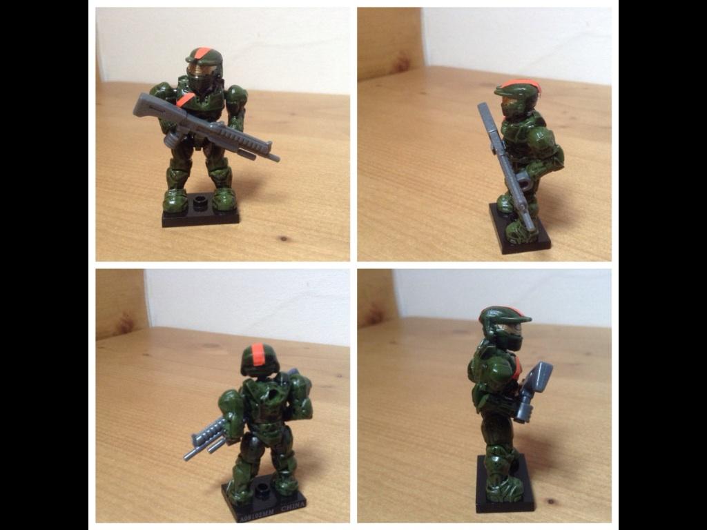 Halo mega bloks custom spartan jerome figure by