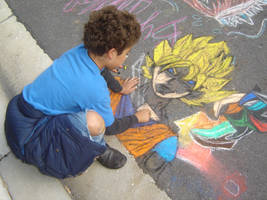 My son drawing Goku by pjillustrator