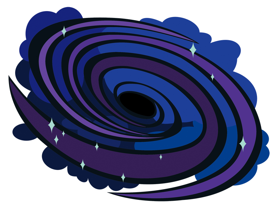 how to draw a black hole in illustrator